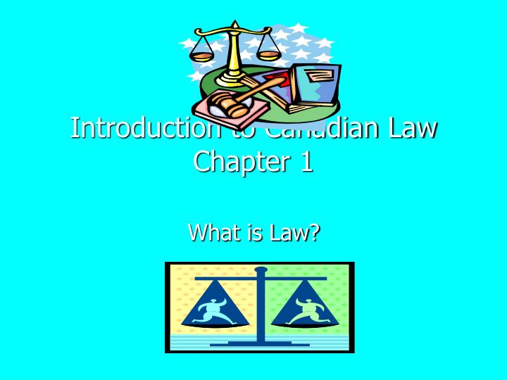 introduction to canadian law chapter 1 n.