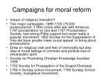 campaigns for moral reform