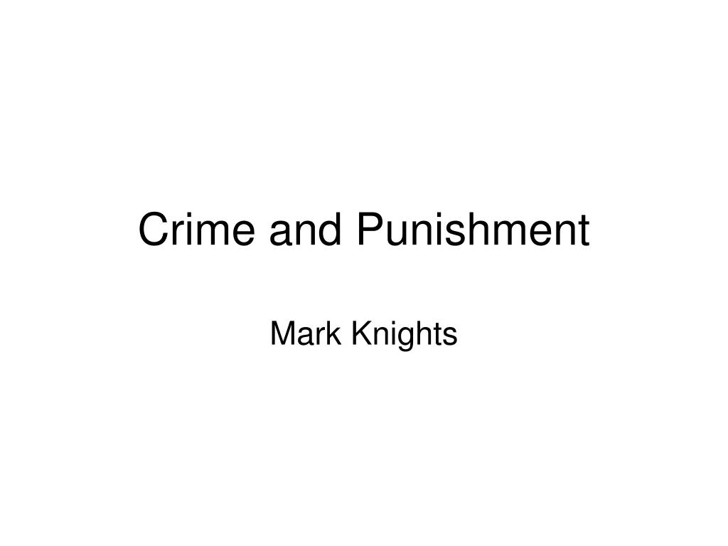 crime and punishment l.