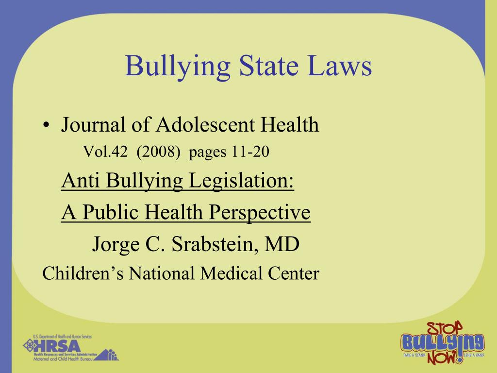 Bullying State Laws