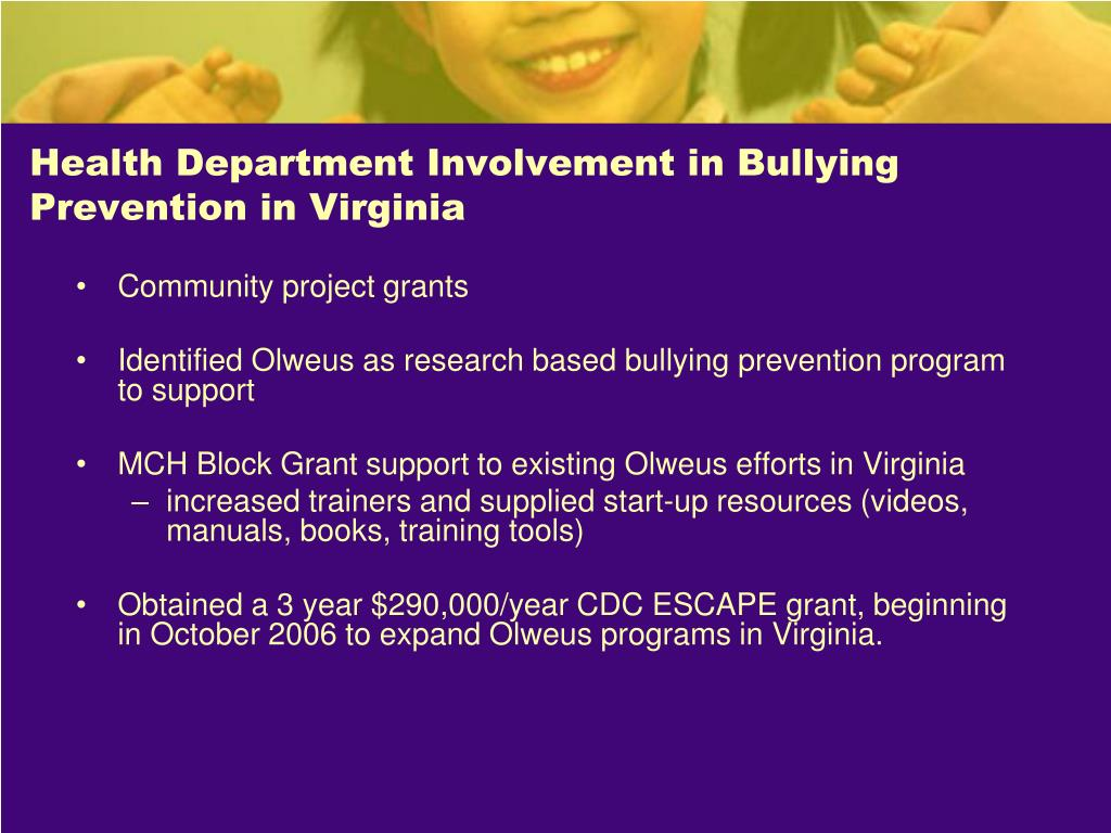 Health Department Involvement in Bullying Prevention in Virginia