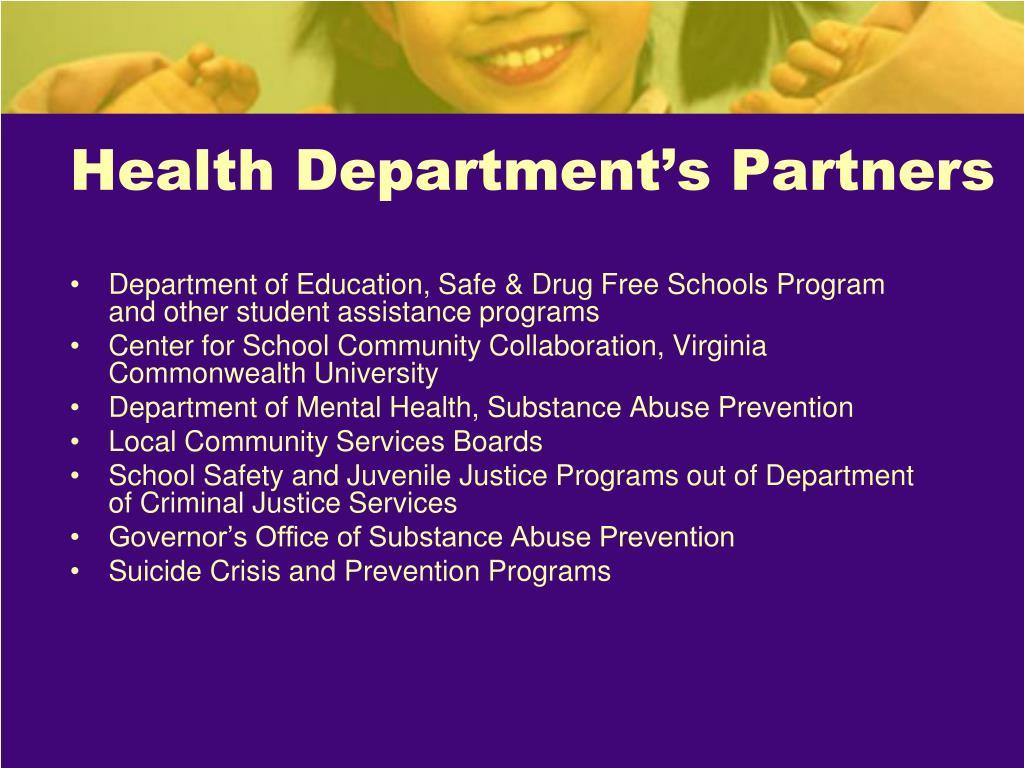 Health Department's Partners