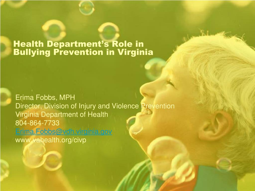 Health Department's Role in