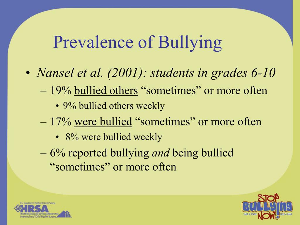 Prevalence of Bullying