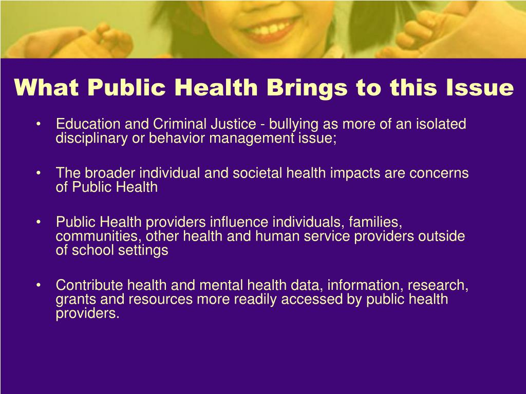 What Public Health Brings to this Issue
