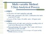 multi variable method 5 step analytical process