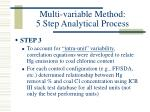 multi variable method 5 step analytical process10