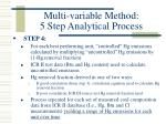 multi variable method 5 step analytical process12
