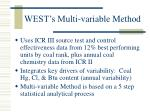 west s multi variable method