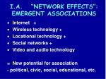 i a network effects emergent associations