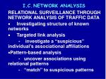 i c network analysis