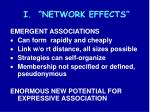 i network effects