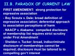 ii b paradox of current law