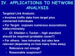 iv applications to network analysis