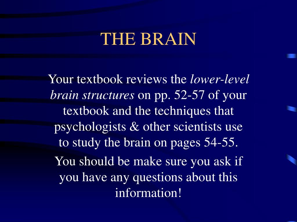 Your textbook reviews the