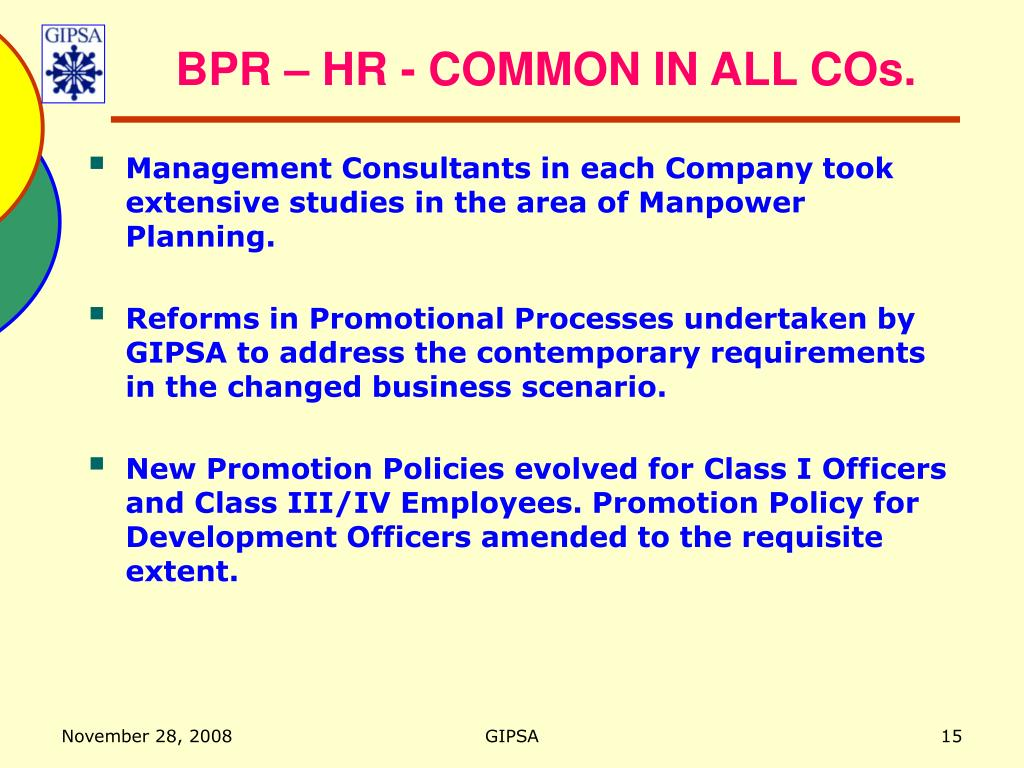 BPR – HR - COMMON IN ALL COs.