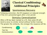 classical conditioning additional principles