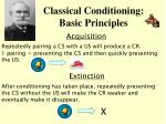classical conditioning basic principles