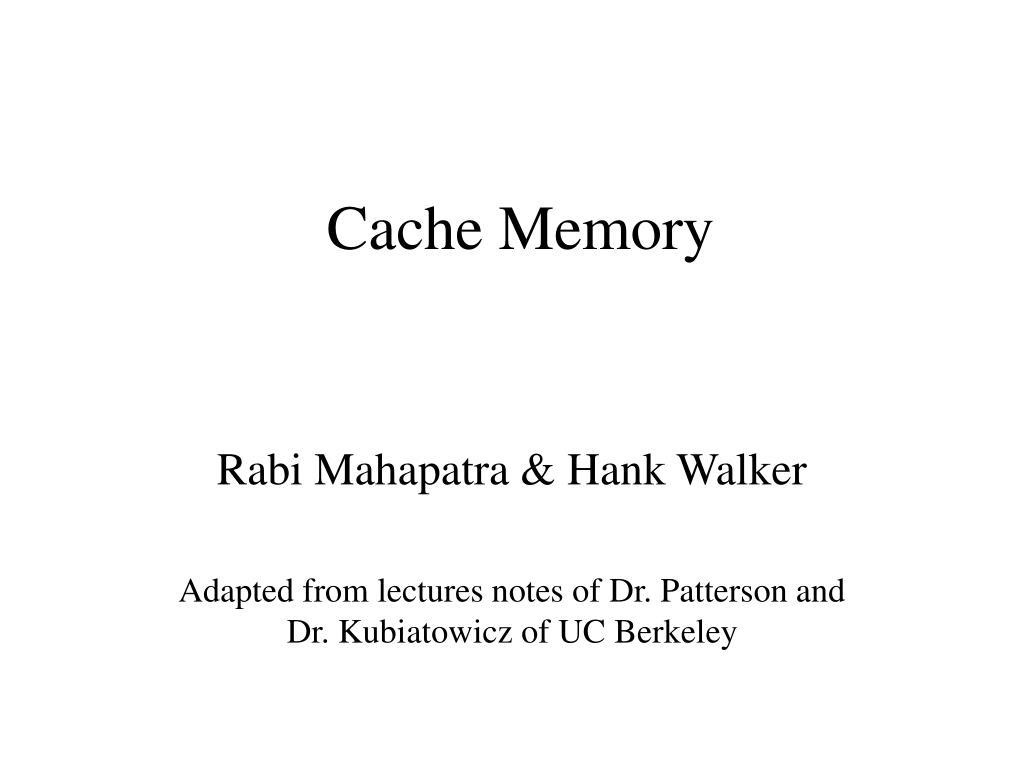 cache memory l.