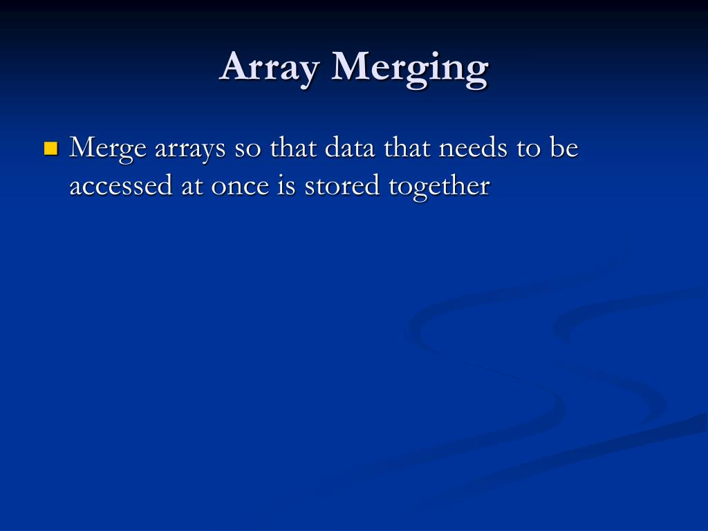 Array Merging