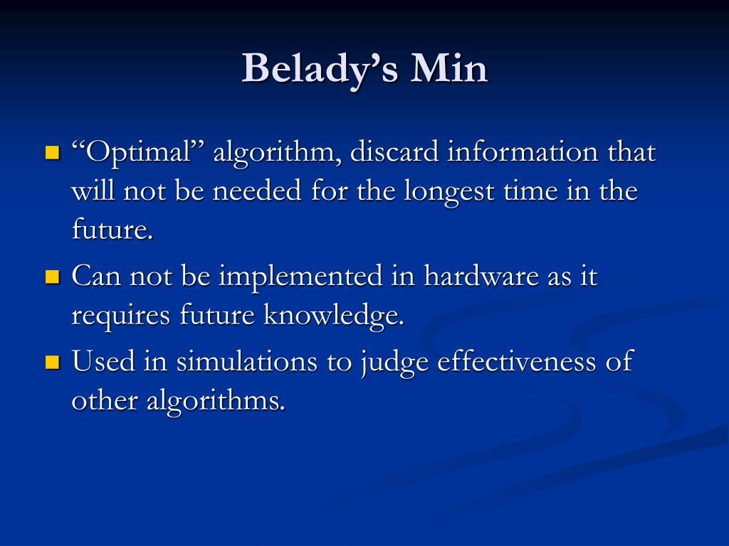 Belady's Min
