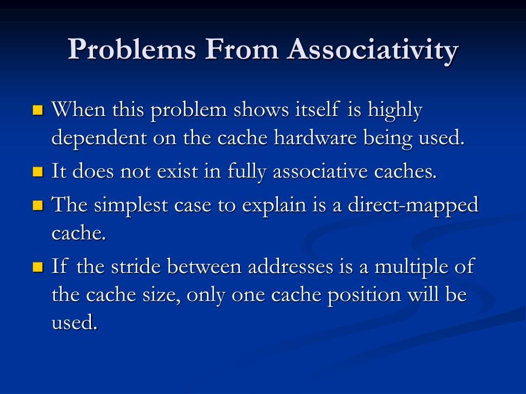 Problems From Associativity