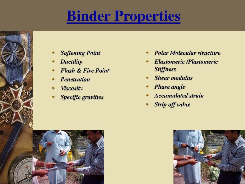 Binder Properties