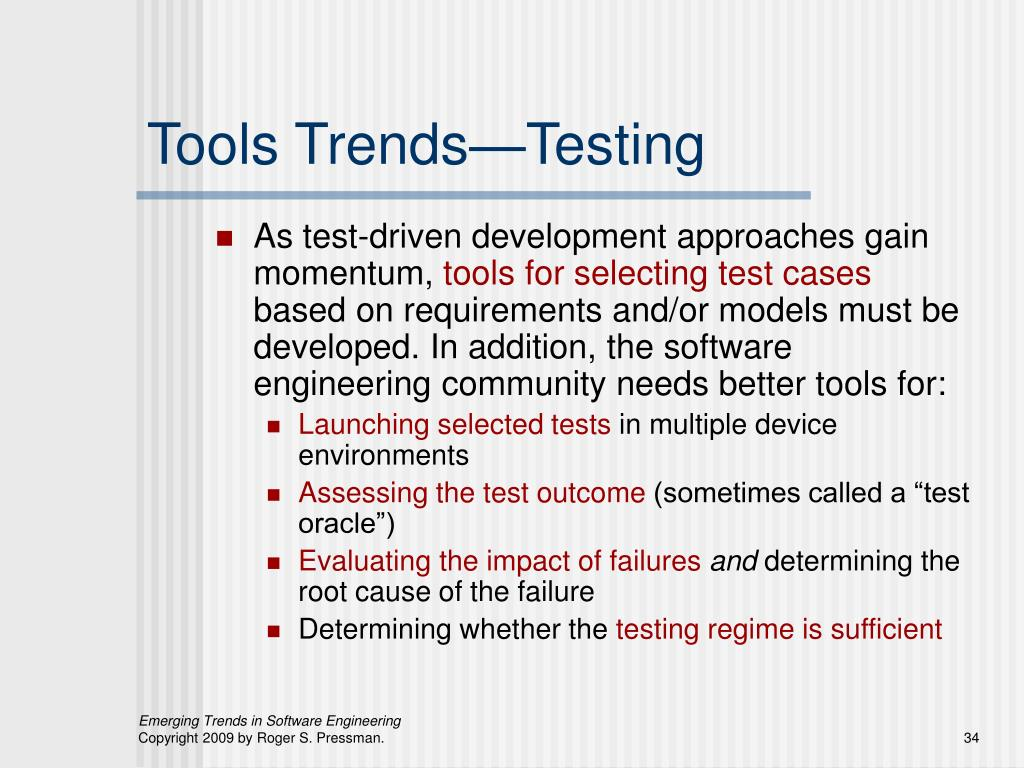 Tools Trends—Testing
