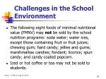 challenges in the school environment27