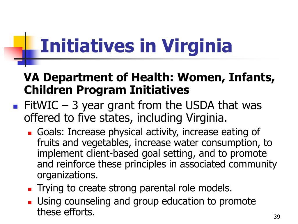 Initiatives in Virginia