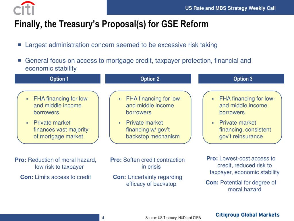 Finally, the Treasury's Proposal(s) for GSE Reform
