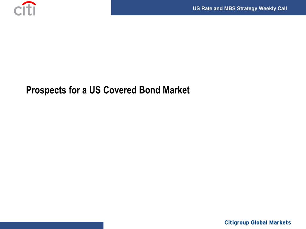 Prospects for a US Covered Bond Market