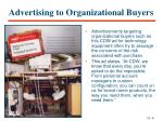 advertising to organizational buyers