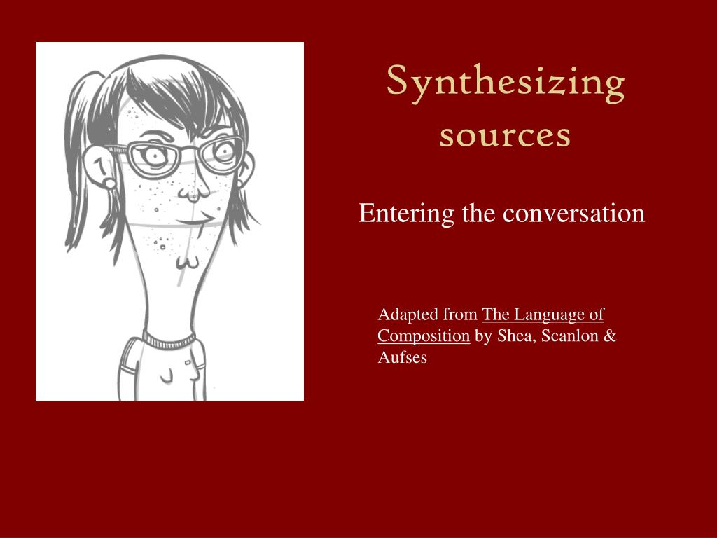 synthesizing sources