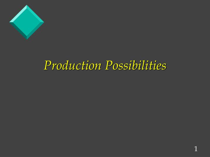 production possibilities n.