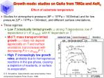 growth mode studies on gaas from tmga and ash 3