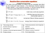 reactive flow conservation equations crosslight procom user s manual