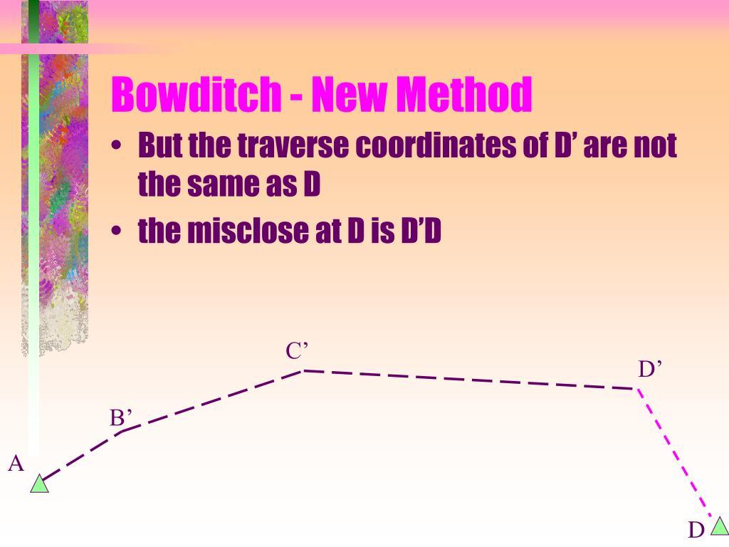 Bowditch - New Method