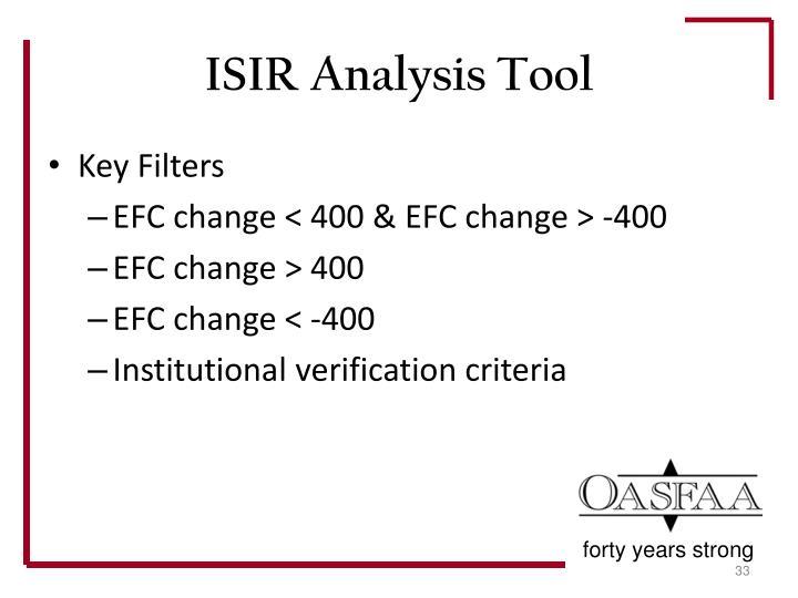 ISIR Analysis Tool