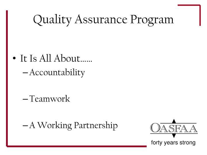 Quality assurance program1