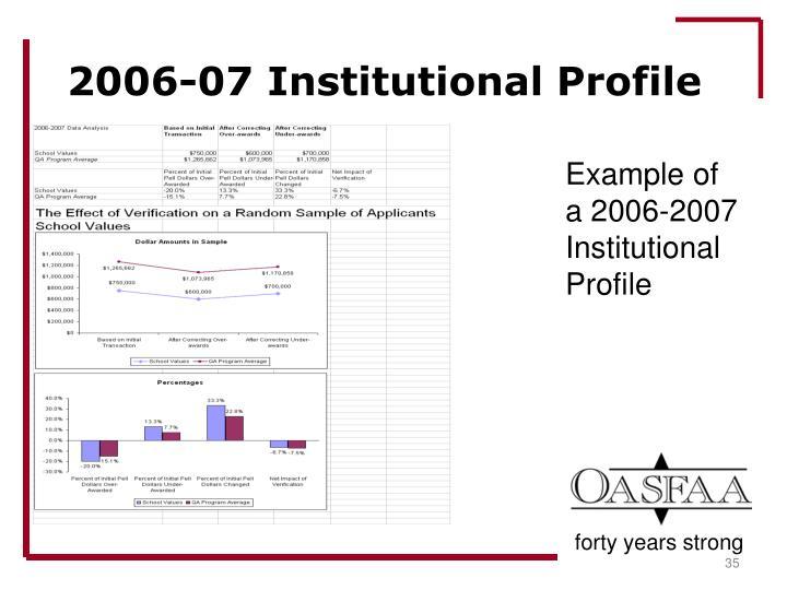 2006-07 Institutional Profile