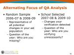 alternating focus of qa analysis
