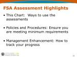 fsa assessment highlights