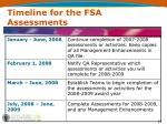 timeline for the fsa assessments