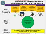 operationally responsive space four reasons one ors one mission