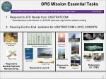 ors mission essential tasks