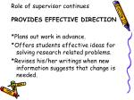 role of supervisor continues6