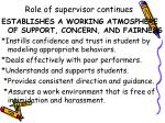 role of supervisor continues7