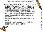 role of supervisor continues8