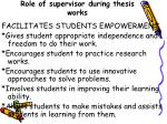 role of supervisor during thesis works